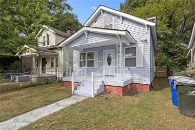 Norfolk Single Family Home New Listing: 1036 W 36th St