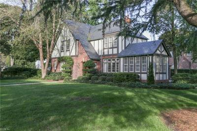 Norfolk Single Family Home Under Contract: 7412 Gleneagles Rd