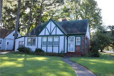 Norfolk Single Family Home New Listing: 321 Burleigh Ave