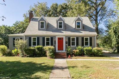 Norfolk Single Family Home New Listing: 3415 Argonne Ave
