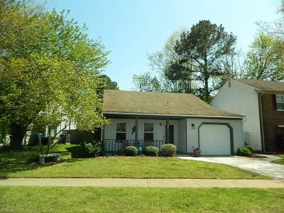 Virginia Beach Single Family Home New Listing: 1568 Dylan Dr