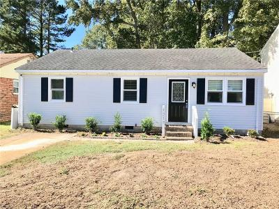 Chesapeake Single Family Home New Listing: 1217 Hazel Ave