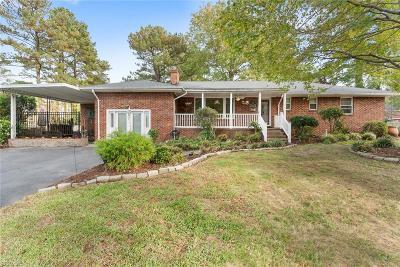 Virginia Beach Single Family Home New Listing: 3442 S Crestline Dr
