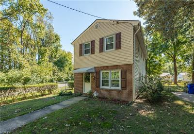 Norfolk Single Family Home New Listing: 3345 Wise St