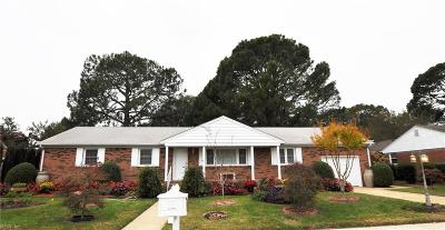 Norfolk Single Family Home Under Contract: 6825 Pallister Rd