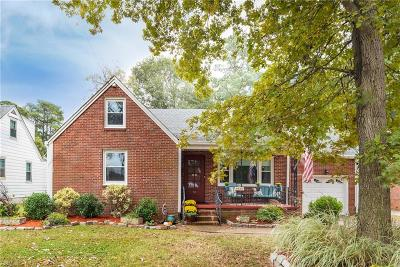 Norfolk Single Family Home For Sale: 8824 Commodore Dr