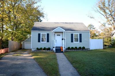 Norfolk Single Family Home For Sale: 6441 Horton Cir