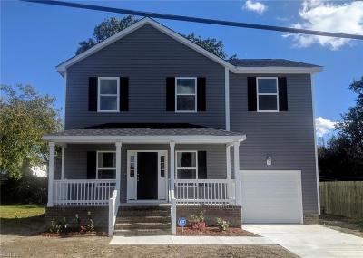 Norfolk Single Family Home For Sale: 1512 Oakfield Ave