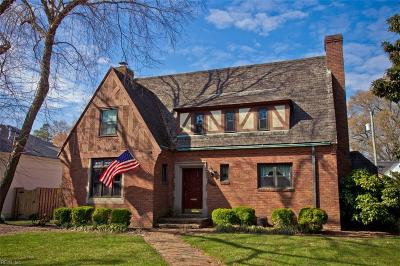 Newport News Single Family Home For Sale: 9921 River Rd