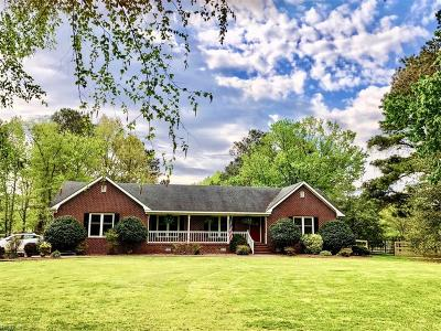 Chesapeake Single Family Home For Sale: 733 Fentress Airfield Rd