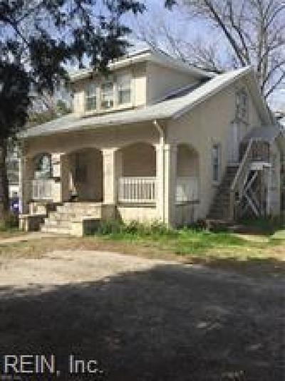 Norfolk Multi Family Home For Sale: 3108 Lyons Ave