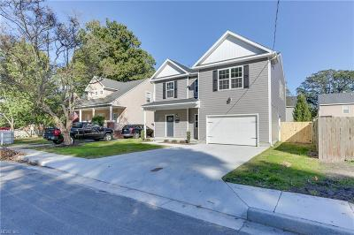 Norfolk Single Family Home For Sale: 8916 Plymouth St