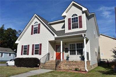 Norfolk Single Family Home For Sale: 3438 Sewells Point Rd