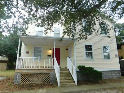 Norfolk Single Family Home For Sale: 9608 11th Bay St