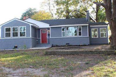 Norfolk Single Family Home New Listing: 2549 Cottage Ave