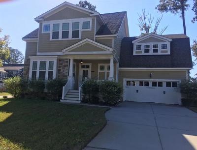 Chesapeake Single Family Home New Listing: 1845 Rockwood Dr