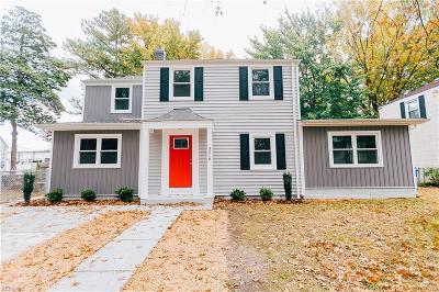 Norfolk Single Family Home New Listing: 3518 White Chapel Rd