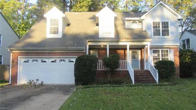 Chesapeake Single Family Home New Listing: 418 Supplejack Ct