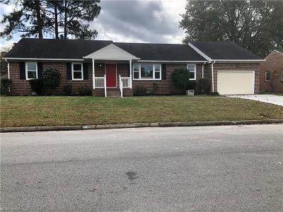 Chesapeake Single Family Home New Listing: 445 Rutgers Ave