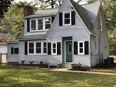 Chesapeake Single Family Home New Listing: 928 Oklahoma Dr