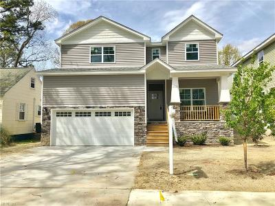 Norfolk Single Family Home For Sale: 1632 Columbia Ave