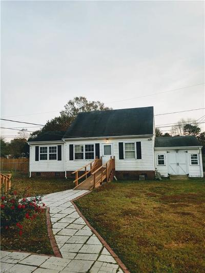 Chesapeake Single Family Home New Listing: 1417 Windsor Rd
