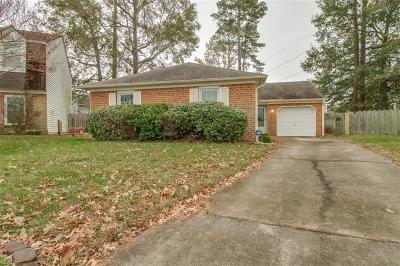 Virginia Beach Single Family Home New Listing: 3800 Caribou Ct