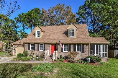 Portsmouth Single Family Home For Sale: 4141 Weyanoke Dr