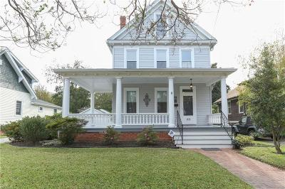 Norfolk Single Family Home For Sale: 1519 Versailles Ave