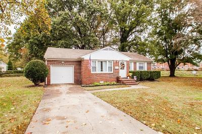 Newport News Single Family Home New Listing: 9616 Carver Dr