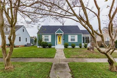 Norfolk Single Family Home New Listing: 8107 Foxdale Dr