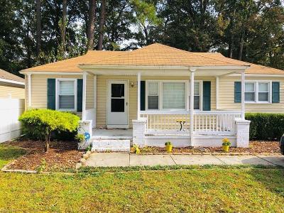 Chesapeake Single Family Home New Listing: 1208 Elder Ave