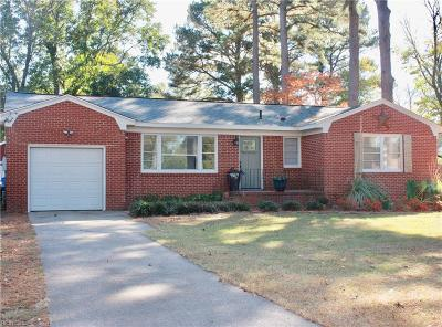 Chesapeake Single Family Home New Listing: 115 Lindsey Ave