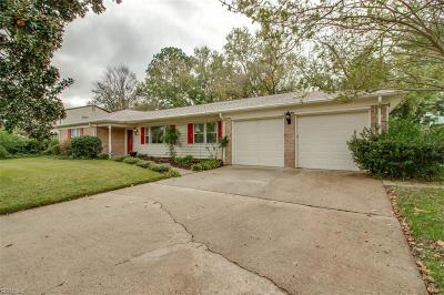 Virginia Beach Single Family Home New Listing: 5166 Sharon Dr