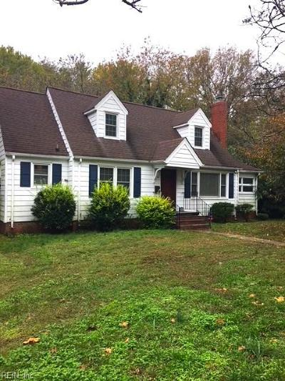 Newport News Single Family Home New Listing: 55 Pear Ave