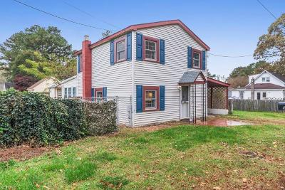 Chesapeake Single Family Home New Listing: 3905 Cobb Ave