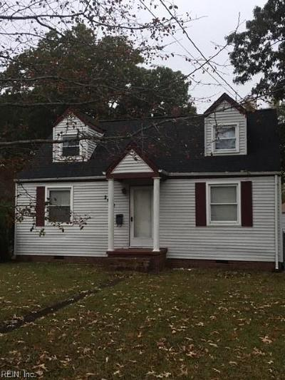 Norfolk Single Family Home New Listing: 2612 Oklahoma Ave