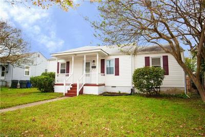 Norfolk Single Family Home New Listing: 3433 County St