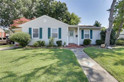 Norfolk Single Family Home New Listing: 6120 Myrtle Park