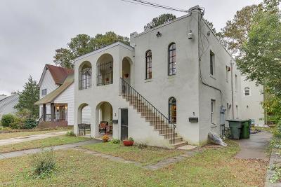 Norfolk Single Family Home New Listing: 433 Rhode Island Ave