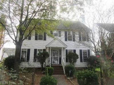 Norfolk Single Family Home New Listing: 2925 Gate House Rd