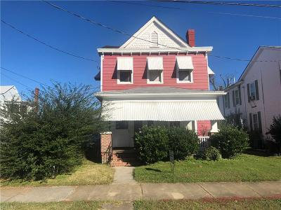 Portsmouth Single Family Home New Listing: 938 Holladay St