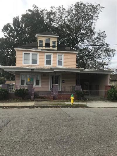 Norfolk Single Family Home New Listing: 615 Walker Ave
