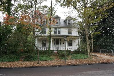 Norfolk Single Family Home New Listing: 4411 Colonial Ave