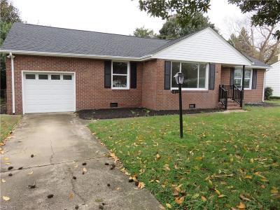 Virginia Beach VA Single Family Home New Listing: $298,900