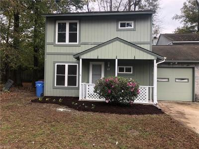 Chesapeake Single Family Home New Listing: 12 Newstead Cir