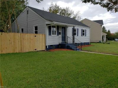 Norfolk Single Family Home New Listing: 861 Marietta Ave