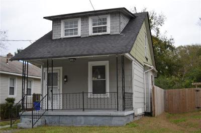 Norfolk Single Family Home New Listing: 2926 Somme Ave