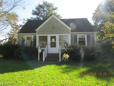 Chesapeake Single Family Home New Listing: 1106 Corden Ave