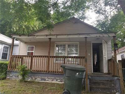 Newport News Single Family Home New Listing: 3411 Roanoke Ave